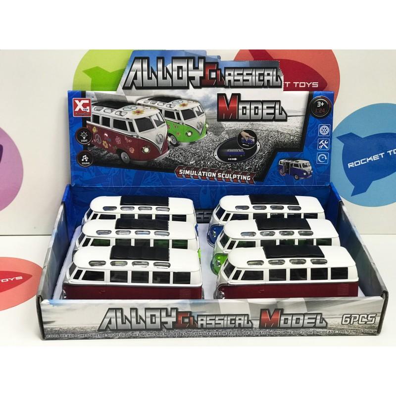 Игрушка - набор Автобусов металл 6 шт. XG879-23