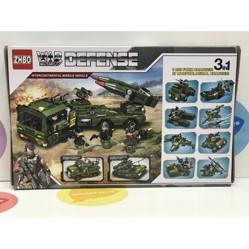 Конструктор - Военная машина 3 в 1 713 дет. 5517