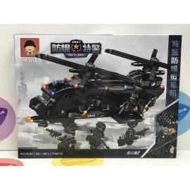 Конструктор - Swat Вертолет 784 дет. свет. 11013