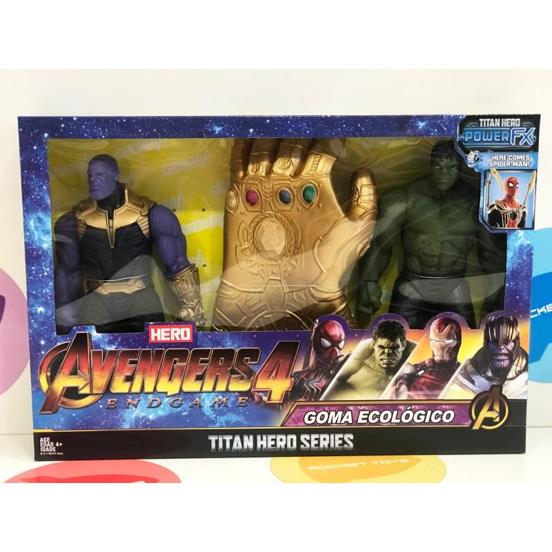 Игрушка - Супер герои Халк и Танос с перчаткой бесконечности 11666