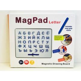 Магнитный планшет для рисования магнитами Буквы и Цифры 180159