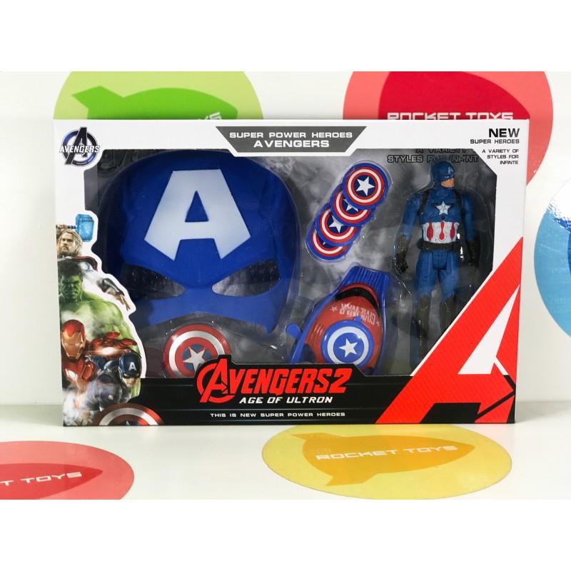 Игрушка - Супер герой Капитан Америка с Маской