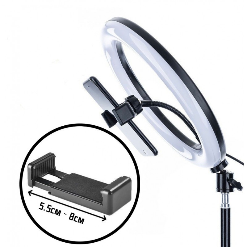 Светодиодная кольцевая лампа LCD 33 см M33