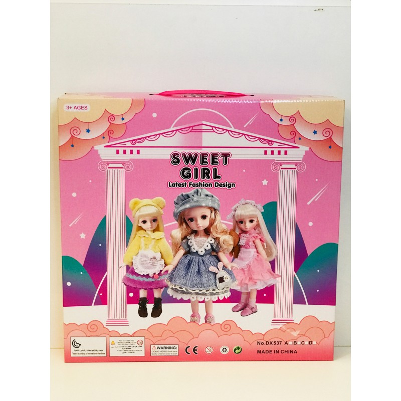 Игрушка - Кукла Sweet girl набор 6 шт. DX537