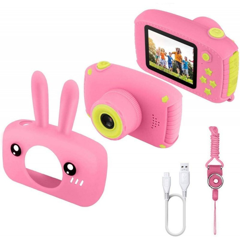 Детский цифровой фотоаппарат зайчик