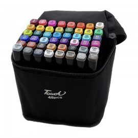 Набор двусторонних маркеров для скетчинга 48 цветов в чехле