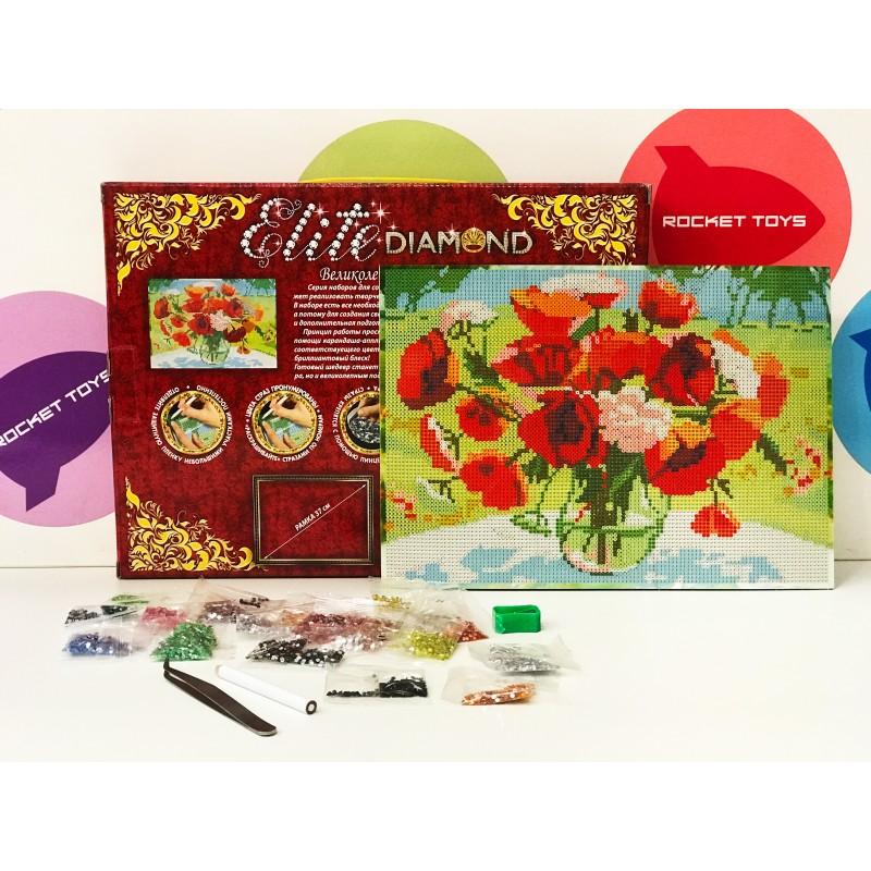 Набор для творчества - Алмазная мозаика Ваза с цветами