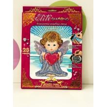 Набор для творчества - Алмазная мозаика Ангелочек с сердцем