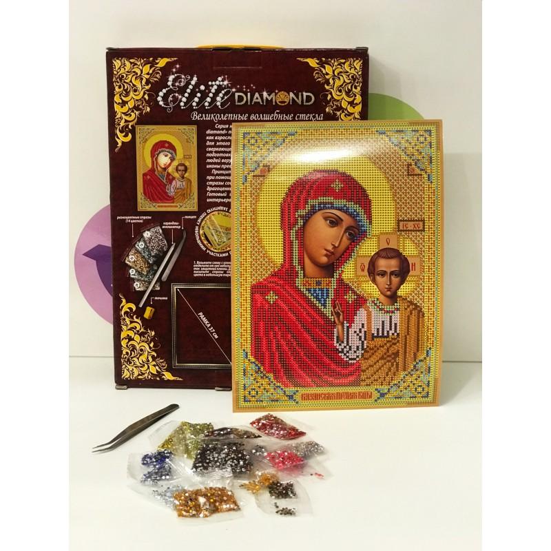 Набор для творчества - Алмазная мозаика Икона Марии с ребенком 45740