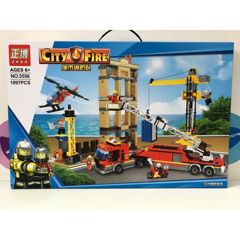 Конструктор - City Fire Пожарная станция 1097 дет. 5556