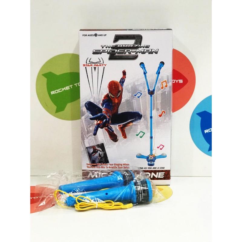 Игровой набор - Микрофон со стойкой Человек Паук 5843