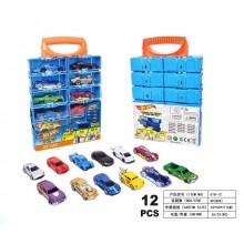 Хот Вилс - Игровой чемодан с машинками 12 шт. 618-12