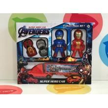Игровой набор - Супер герои с машинками в ассортименте 796