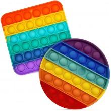 Игрушка - Антистресс Pop it разноцветный в ассортименте