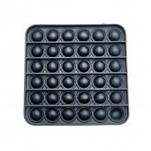 Сенсорная игрушка антистресс POP it Fidget с пузырьками цвет Черный