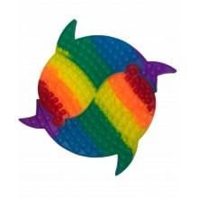 Сенсорная игрушка антистресс POP it Fidget с пузырьками Рыбки Big 40 см