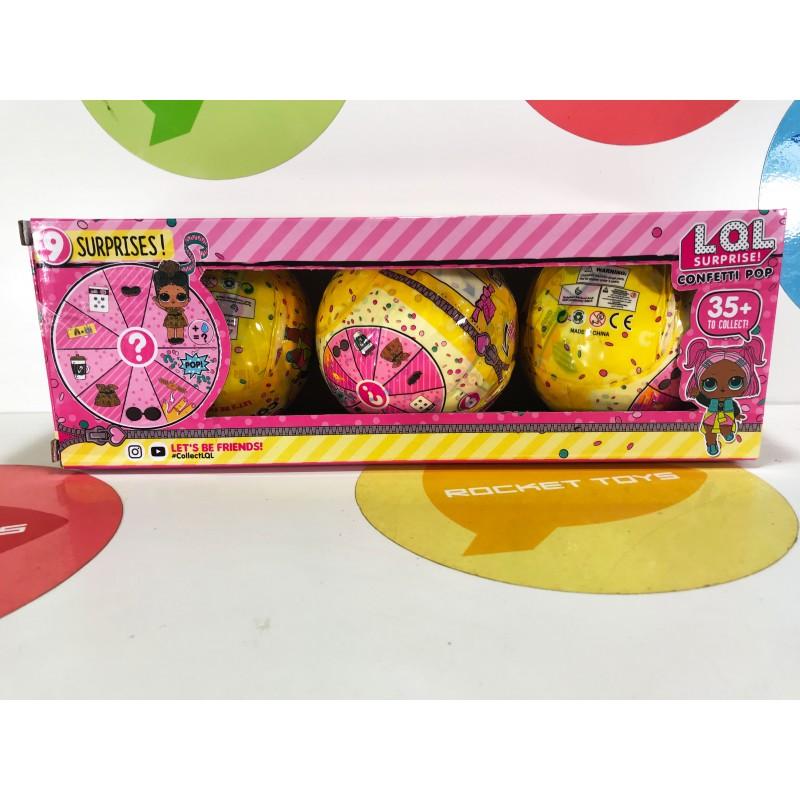 Кукла - LOL набор 3 в 1 с конфетти