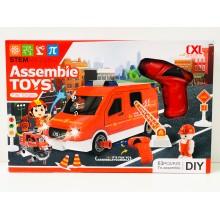 Конструктор - Пожарная машина с шуруповертом CLX200-57