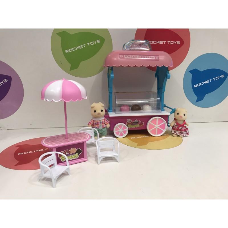 Игровой набор - Семья c магазином мороженного
