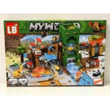 Конструктор - Minecraft на 451 дет. свет. LB313