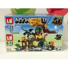 Конструктор - Minecraft 4 в 1 свет. LB595-1