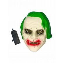 Маска - Джокер неоновая с подсветкой