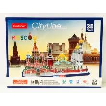 Пазл - 3D City Moscow 204 дет. MC266H
