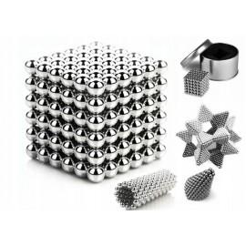 Неокуб Neocube куб из 216 магнитных шариков 5 мм (серебристый)