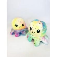 Мягкая игрушка Осьминожка - перевертыш-вывернушка разноцветная 20 см
