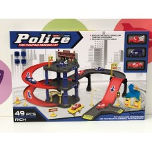 Игровой набор - Парковка Police 49 дет. P3092