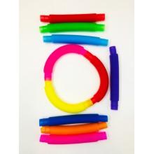 Труба антистресс / Pop Tubes / цветная трубка набор 10 шт. 14,5 см