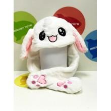 Шапка - Кролик в ассортименте с ушками свет.