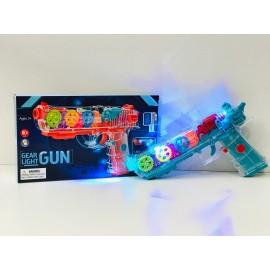 Игрушка - Пистолет прозрачный с шестеренками YJ-Q001