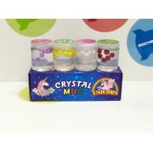Игрушка - Лизун в баночках с шариками Crystal Mud