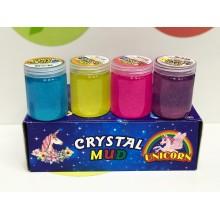 Игрушка - Лизун в баночках с блестками Crystal Mud